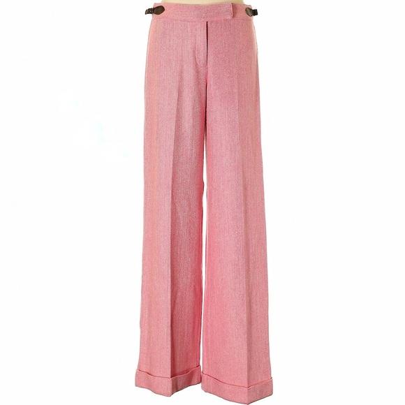 Lilly Pulitzer Pink Herringbone Tweed Pants